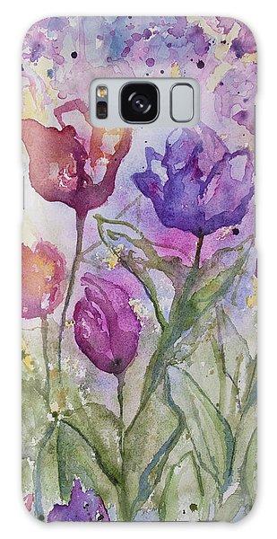 Watercolor - Spring Flowers Galaxy Case