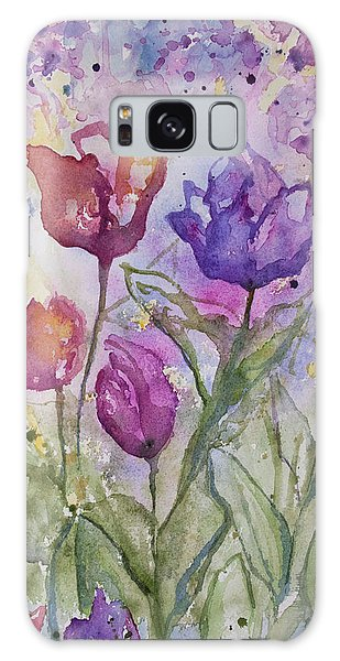 Watercolor - Spring Flowers Galaxy Case