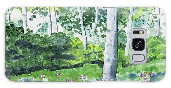 Watercolor - Spring Forest And Flowers Galaxy Case