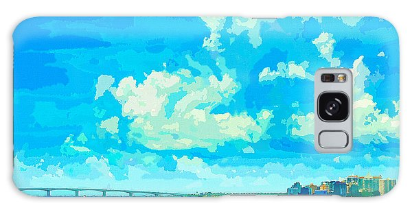 Watercolor Spring On Sarasota Bay Galaxy Case