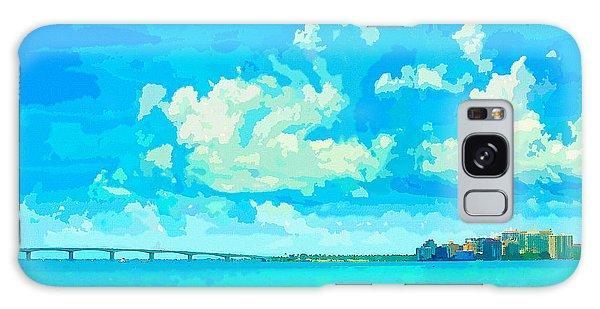 Watercolor Spring On Sarasota Bay Galaxy Case