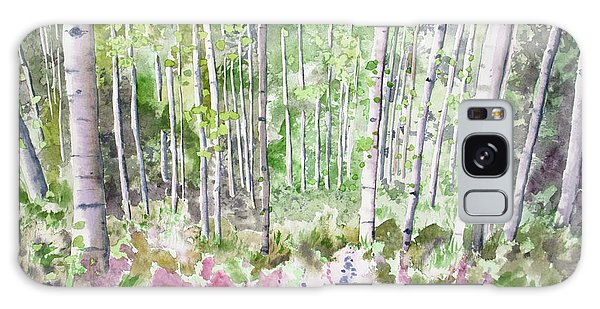 Watercolor - Summer Aspen Glade Galaxy Case