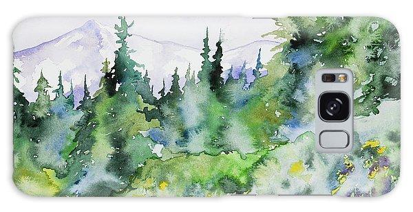 Watercolor - Summer In The Rockies Galaxy Case
