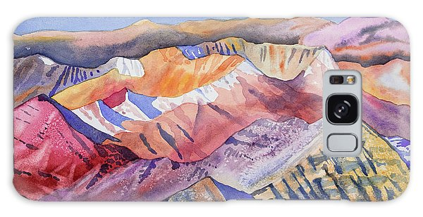 Watercolor - View From Atop Castle Peak Galaxy Case