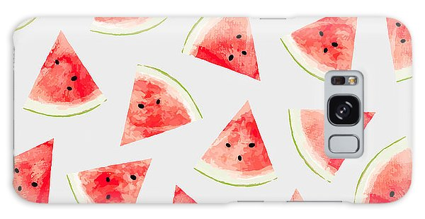 Watercolor Watermelon Pattern Galaxy Case