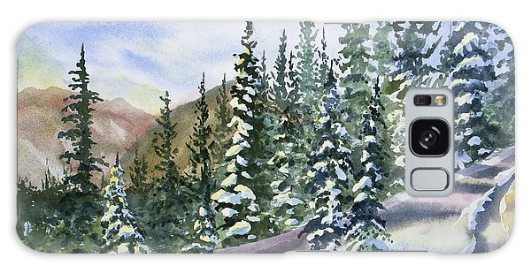 Watercolor - Winter Snow-covered Landscape Galaxy Case