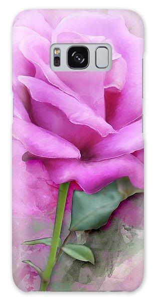 Watercolour Pastel Lilac Rose Galaxy Case