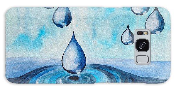 Waterdrops Galaxy Case