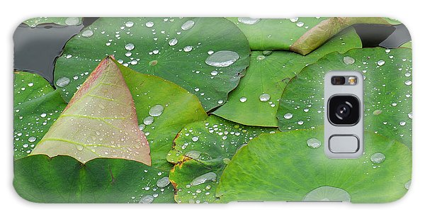 Outdoor Galaxy Case - Waterdrops On Lotus Leaves by Silke Magino