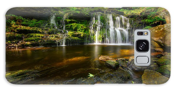 Waterfall At Day Pond State Park Galaxy Case by Craig Szymanski