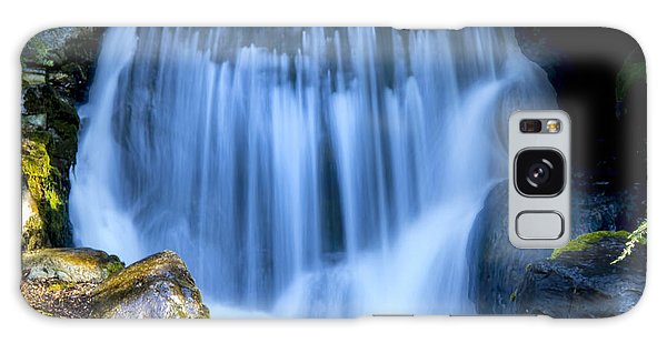 Waterfall At Dow Gardens, Midland Michigan Galaxy Case by Pat Cook