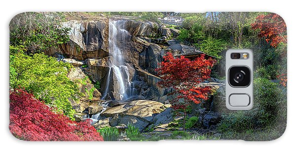 Waterfall At Maymont Galaxy Case by Rick Berk