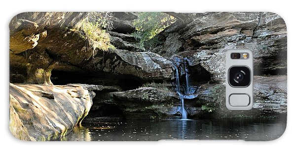 Waterfall At Old Man Cave Galaxy Case