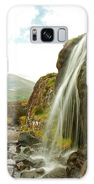 Waterfall At The Conor Pass Galaxy Case by Martina Fagan