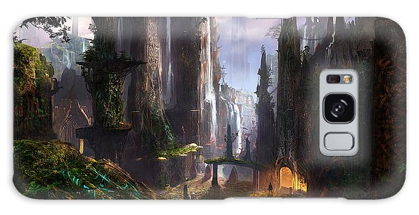 Environments Galaxy Case - Waterfall Celtic Ruins by Alex Ruiz