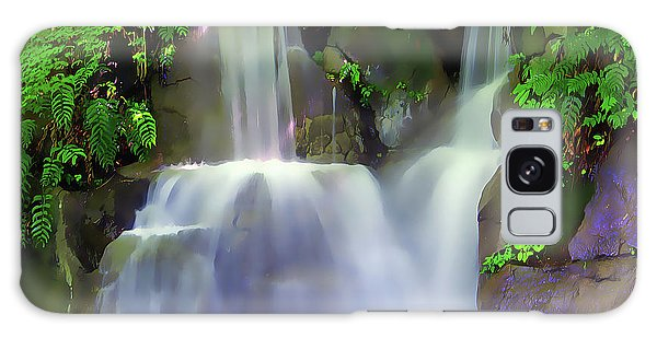 Galaxy Case featuring the painting Waterfall by Harry Warrick