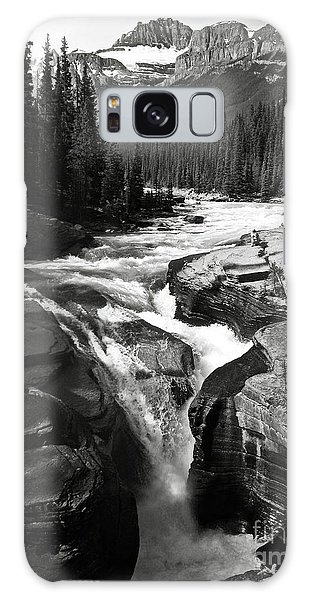 Waterfall In Banff National Park Bw Galaxy Case by RicardMN Photography