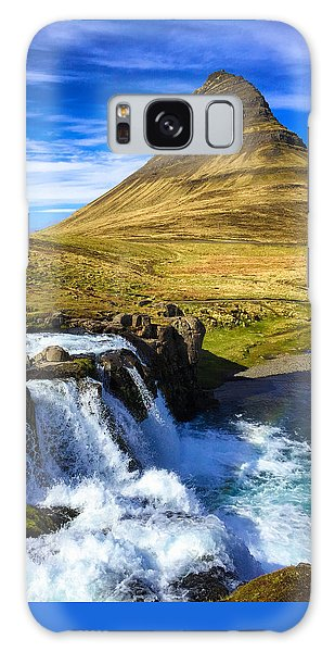 Amazing Galaxy Case - Waterfall In Iceland Kirkjufellfoss by Matthias Hauser