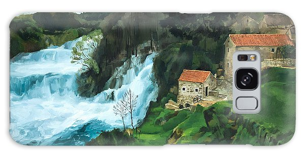 Waterfall In Krka Galaxy Case