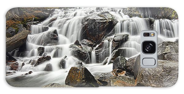 Waterfall In Lee Vining Canyon Galaxy Case