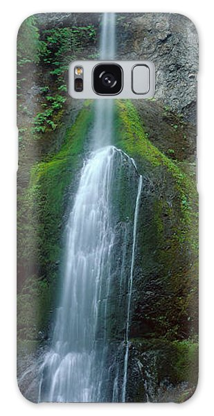 Waterfall In Olympic National Rainforest Galaxy Case