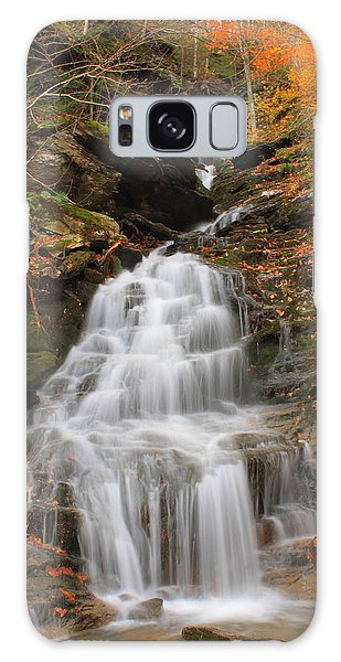 Waterfall In Smugglers Notch Galaxy Case