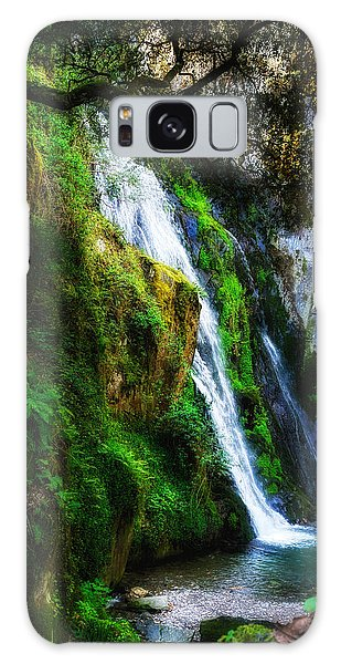 Waterfall In Spring Galaxy Case
