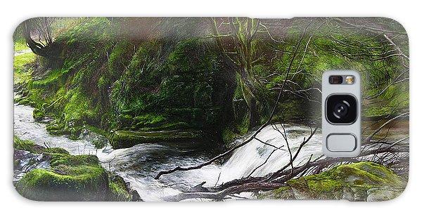 Waterfall Near Tallybont-on-usk Wales Galaxy Case
