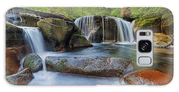 Waterfalls At Sweet Creek Falls Trail Galaxy Case