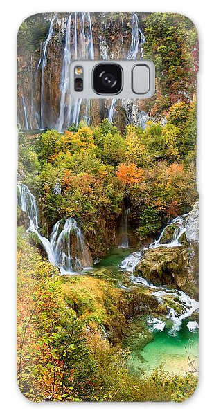 Waterfalls In Plitvice Lakes National Park Galaxy Case