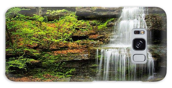 Waterfalls On Little Three Mile Run Galaxy Case