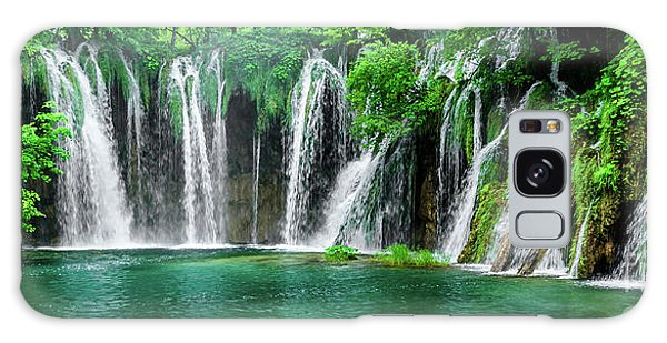 Waterfalls Panorama - Plitvice Lakes National Park Croatia Galaxy Case