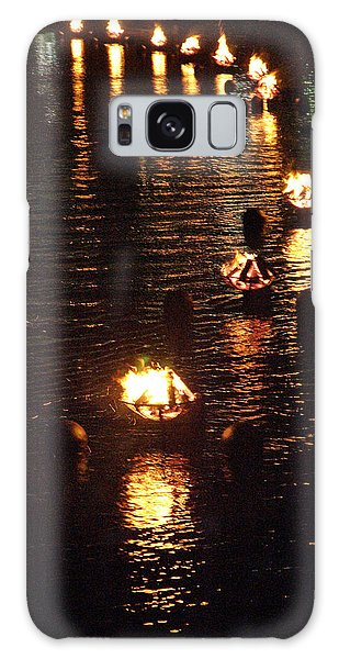 Waterfire Lights Galaxy Case