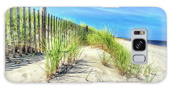 Galaxy Case featuring the photograph Waterfront Sand Dune And Grass by Gary Slawsky