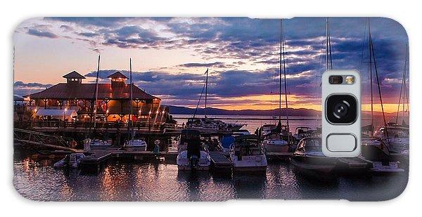 Waterfront Summer Sunset Galaxy Case