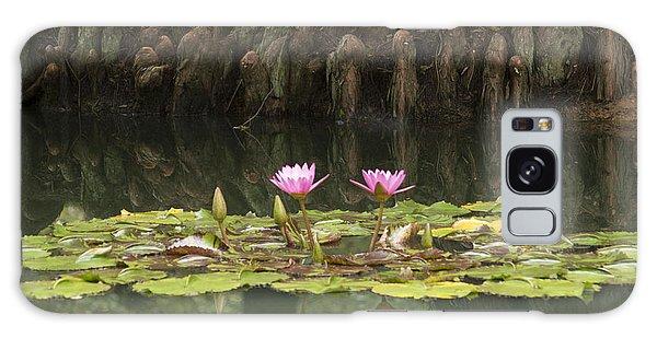Waterlilies And Cyprus Knees Galaxy Case by Linda Geiger
