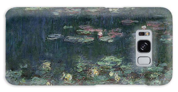 Reflections Galaxy Case - Waterlilies Green Reflections by Claude Monet