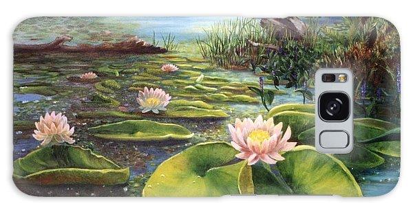 Waterlilies Galaxy Case by Renate Nadi Wesley