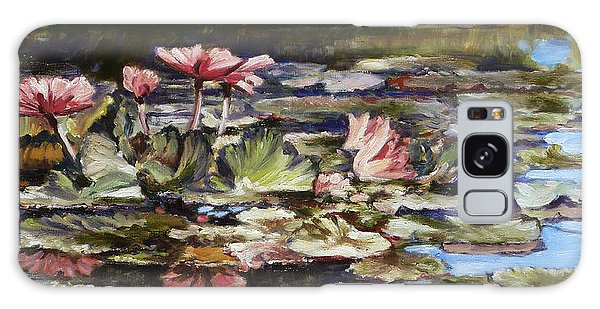 Waterlilies Tower Grove Park Galaxy Case