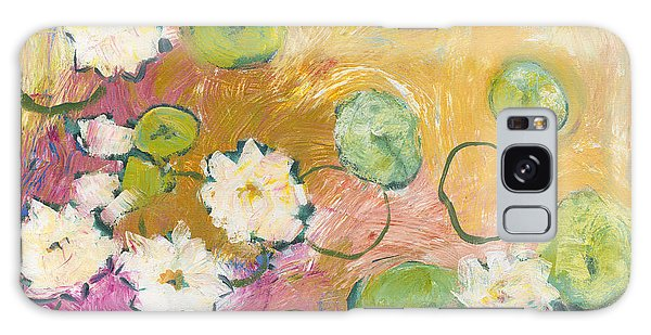 Impressionist Galaxy Case - Waterlillies At Dusk by Jennifer Lommers