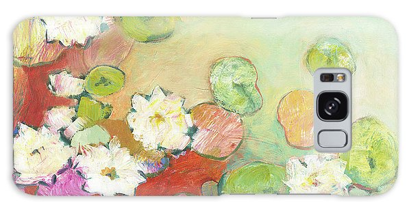 Impressionist Galaxy Case - Waterlillies At Dusk No 2 by Jennifer Lommers
