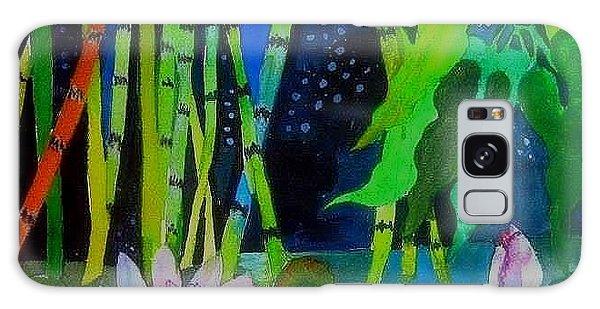 Waterlillies At Midnight Galaxy Case