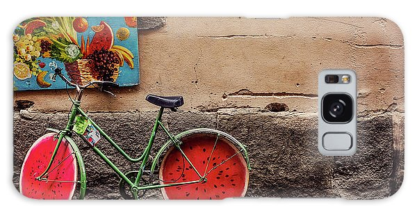 Watermelon Wheels Galaxy Case by Happy Home Artistry