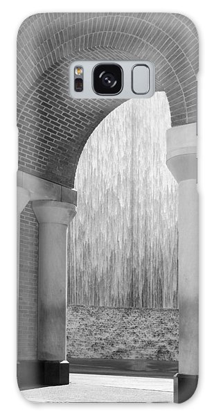 Waterwall And Arch 3 In Black And White Galaxy Case