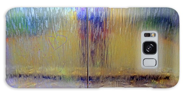Galaxy Case featuring the photograph Watery Rainbow Abstract by Nareeta Martin