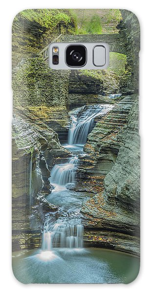 Galaxy Case featuring the photograph Watkins Glen 08 Panorama by Jim Dollar