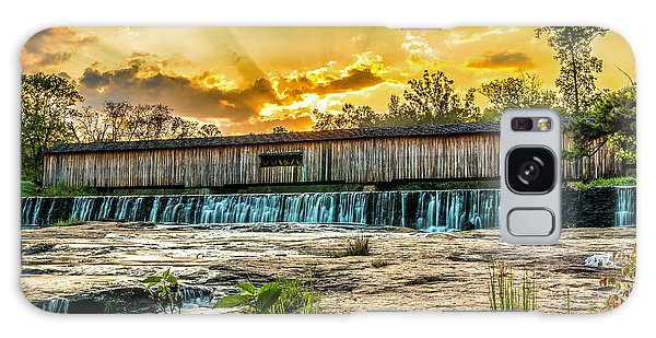 Galaxy Case featuring the photograph Watson Mill Covered Bridge by Michael Sussman