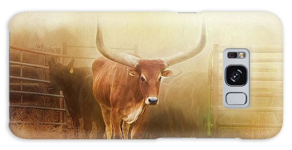 Watusi In The Dust And Golden Light Galaxy Case