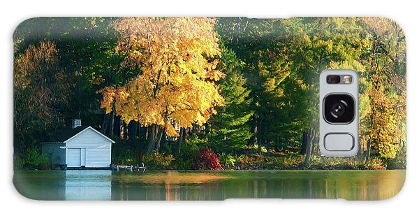 Waupaca Chain Boathouse Galaxy Case by Trey Foerster