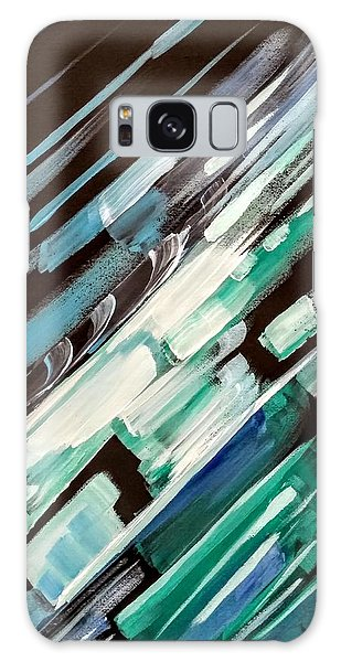 Galaxy Case featuring the painting Wave Crash by Jennifer Hotai